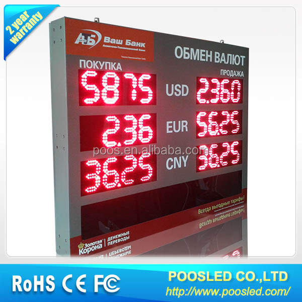 currency foreign board panel \ currency foreign panel \ currency foreign screen signage