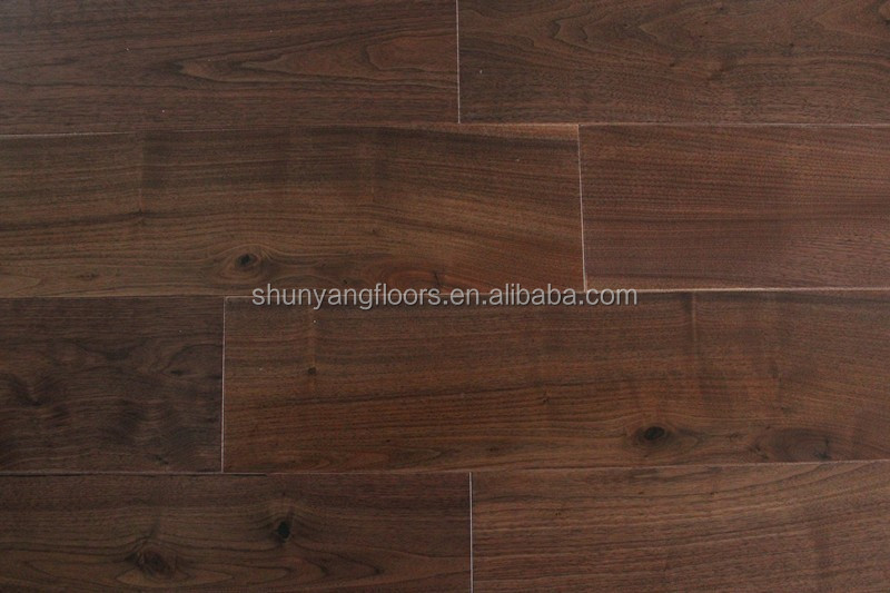 E0 Standard Engineered American Walnut Wood Flooring in Natural Color