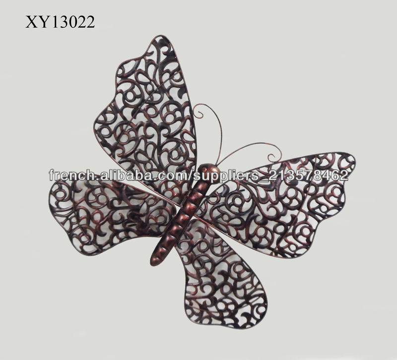 papillon de fer d coration murale artisanat en m tal id de On decoration murale papillon