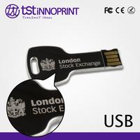 2016 wholesale Custom Color & Logo Metal USB Jump Drive Key