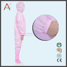 Factory Price Blue or White esd smock gown LAB008-4-3 polyester waterproof disposable coverall
