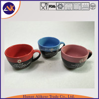 Hunan factory supply cheap bulk stoneware ceramic coffee/cappuccino/espresso mug with handle