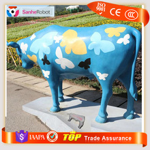 Landscape park beauty decorative Fiberglass bull animal figure