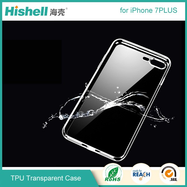 Clear Crystal transparent TPU Phone Case For iPhone 7 plus