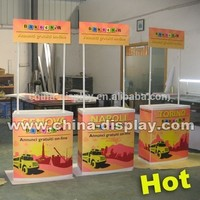Custom portable plastic expo folding promotion table with top header