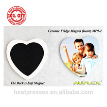 Wholesale Cheap Sublimation Custom Heart/rectangle Shape Blank Ceramic Fridge Magnets
