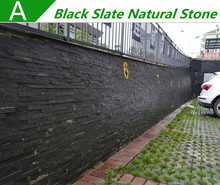 Hot sale popular outside wall tiles design black slate natural stone wall panels 6.99USD/M2