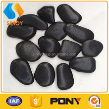 Hot sale balck polished river stone