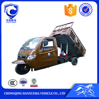 Chongqing used cargo motor tricycle with double dumper