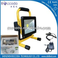 Hot sell 2014 IP65 20w factory rechargeable led flood light for camp