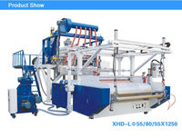 Three layer extruder polyethylene stretch film machine