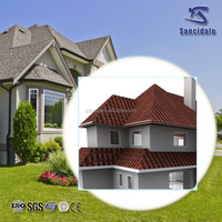 Deep brown color stone-coated metal roof tile