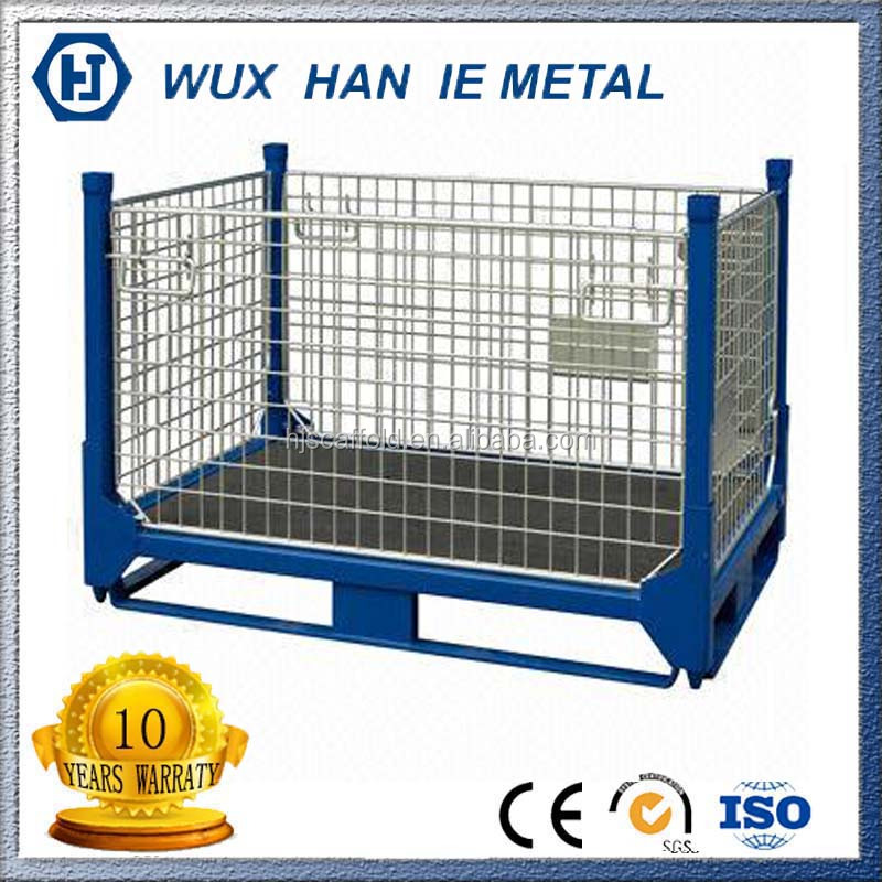 Heavy Duty Welded Mesh Wire Panels Metal Pallet Mesh Cage
