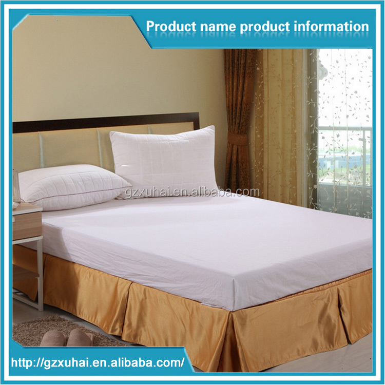 Customized High Quality Star Hotel Jacquard Weave Luxury Bed Skirt For Hotel