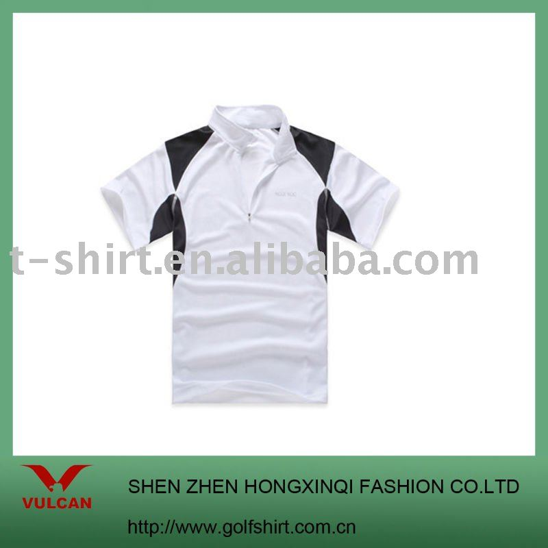 men's slim fit bamboo fiber short sleeve polo shirt golf clothing