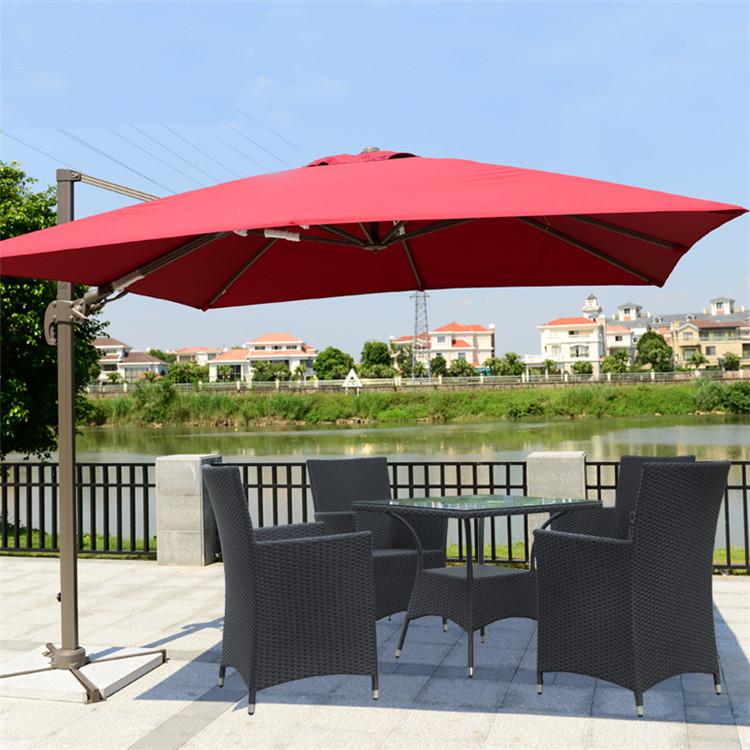 high quality china huge red bull garden line rectangular outdoor umbrella - Rectangular Patio Umbrella