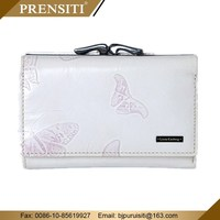 stingray leather wallet white coin purse for men women