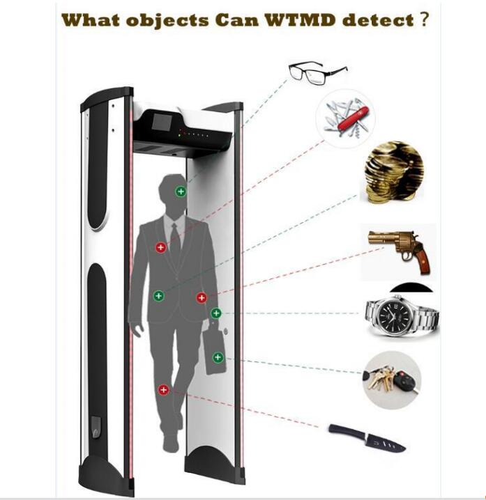 portable walk through archway metal detector price kit