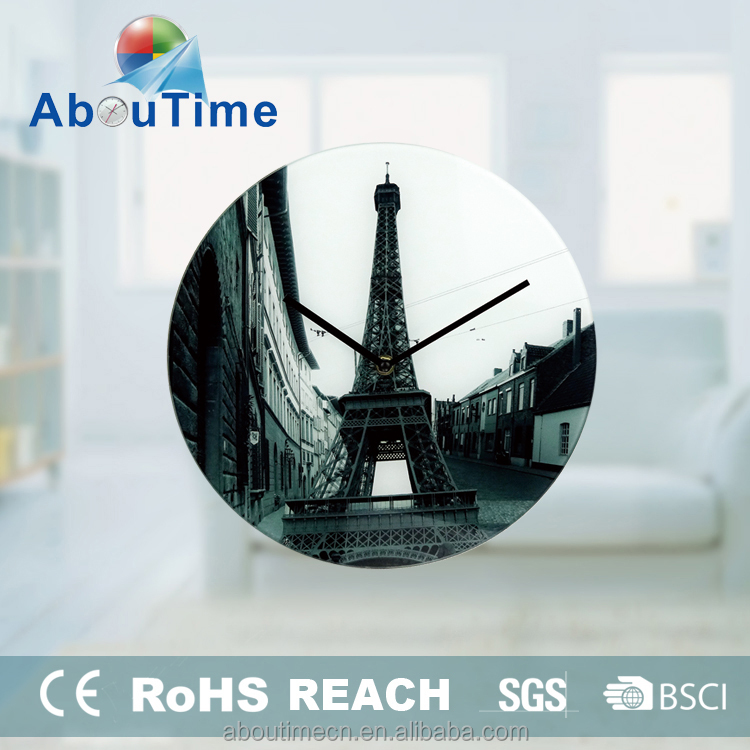 decorative glass kitchen wall clock coffee table