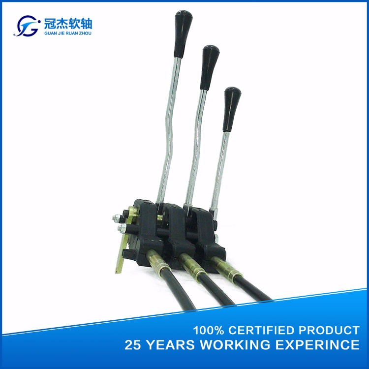 Universal Hydraulic Control Lever Cable : Gj a hydraulic multiple valve push pull cable control