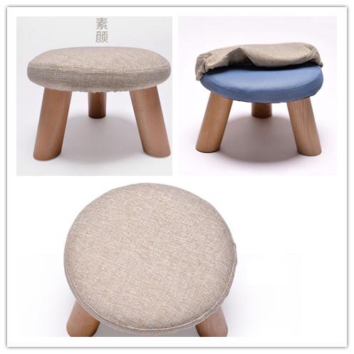 petit pas cher design moderne en bois tissu tabouret bas avec housse en coton tabourets et bancs. Black Bedroom Furniture Sets. Home Design Ideas