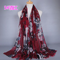floral printed kerchief women fashion viscose shawls muslim scarf long popular scarves hijab GBS348