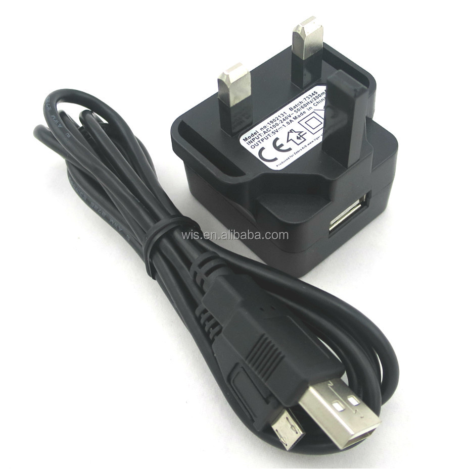 Wiscon manufacturer cable usb universal 5w wall adapter