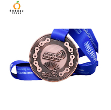 Custom special die casting cut metal 3D cycle series race bike award medals