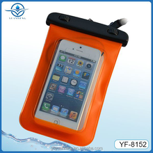 2016 hot selling new design waterproof phone bag for iphone 4 4s 5 5s for swimming diving rafting drifting