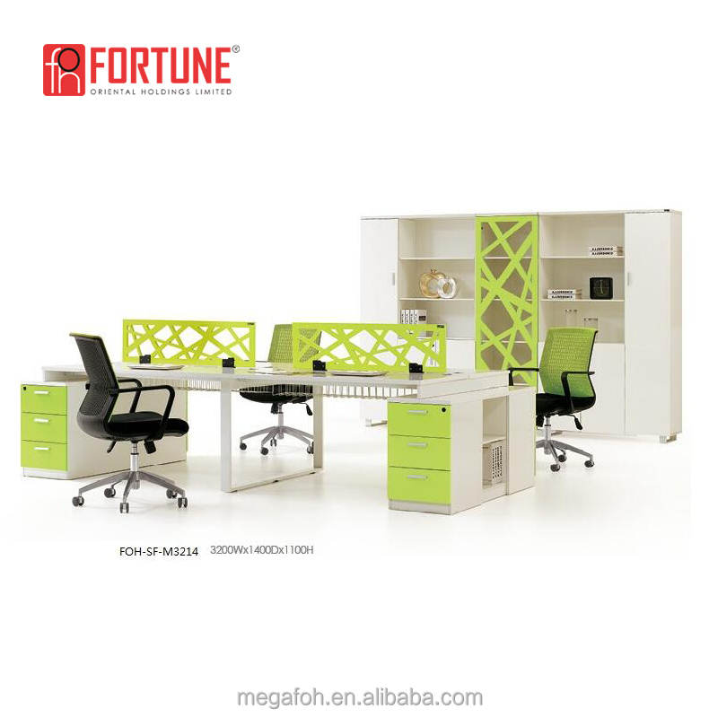 India Modular Office Furniture Wooden Office Desk Cubicle Multi User Computer Workstation