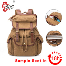 latest canvas vintage school bag for teens wholesale guangzhou