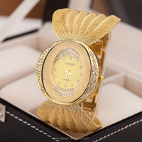 Free Shipping Gold Watch Chain Women Watches Jewelry Watches