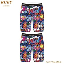 95% polyester 5% spandex Sport Men Boxer Short in sublimation printing mens underwear