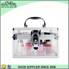 Clear Plastic Acrylic Nail Polish Cosmetic Vanity Case