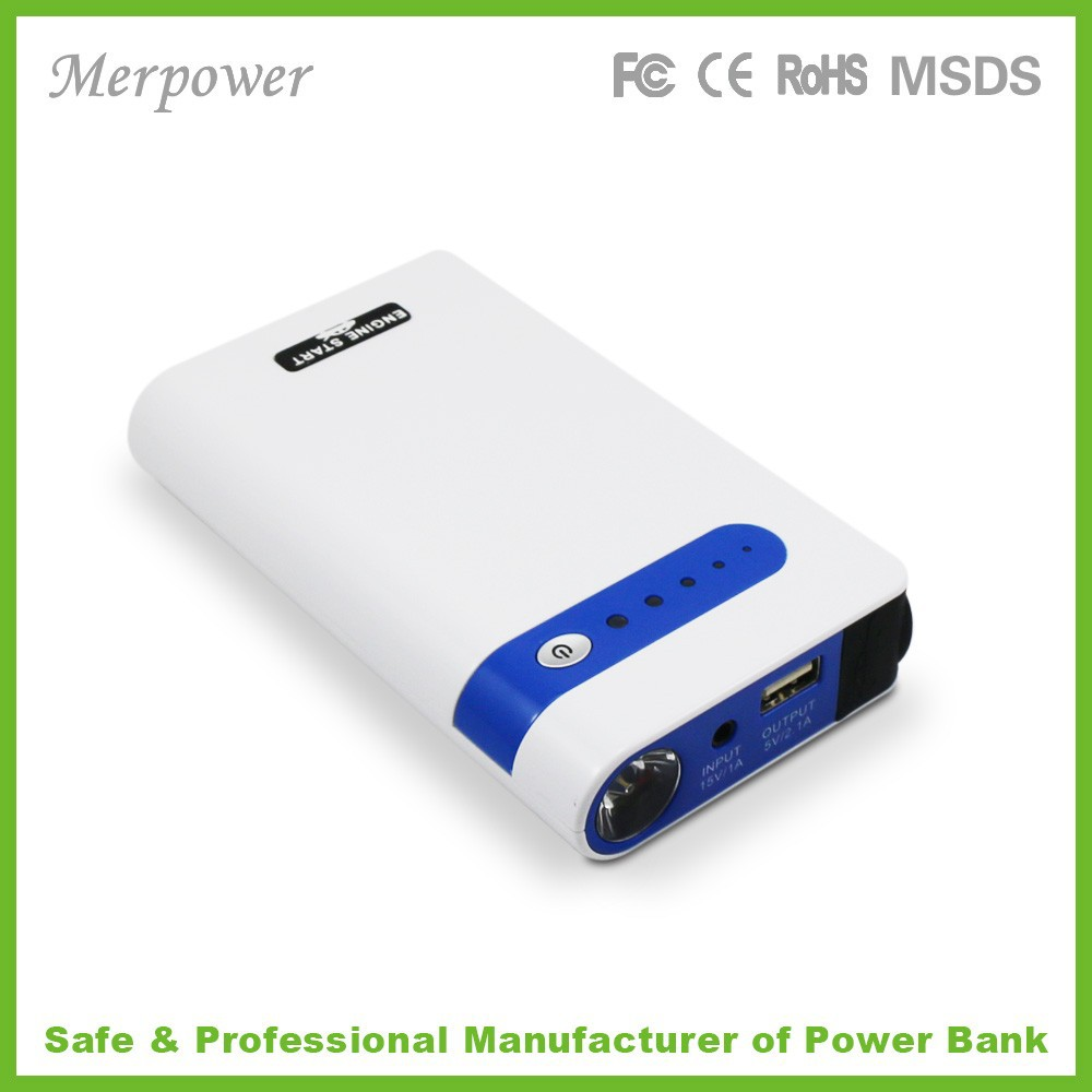 Multi-function portable car jump starter power bank10000mah emergency mini battery booster for phone ipad