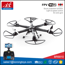 high quality 6-axis gyro wifi camera quadcopter HD rc drone hd with led light BR6810