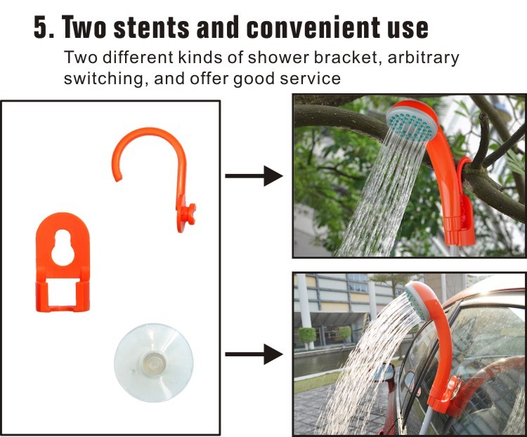 Outdoor travel with Built-in Battery portable waterproof shower