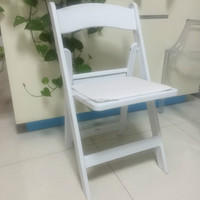 High quality Resin white folding chair for wedding or party