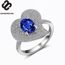 Extremely shiny beautiful elegant ring for women cubic zircon cheap wholesale genuine silver s925 jewelry