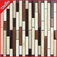 linear iridescent glass mosaic decorative bathroom wall tiles