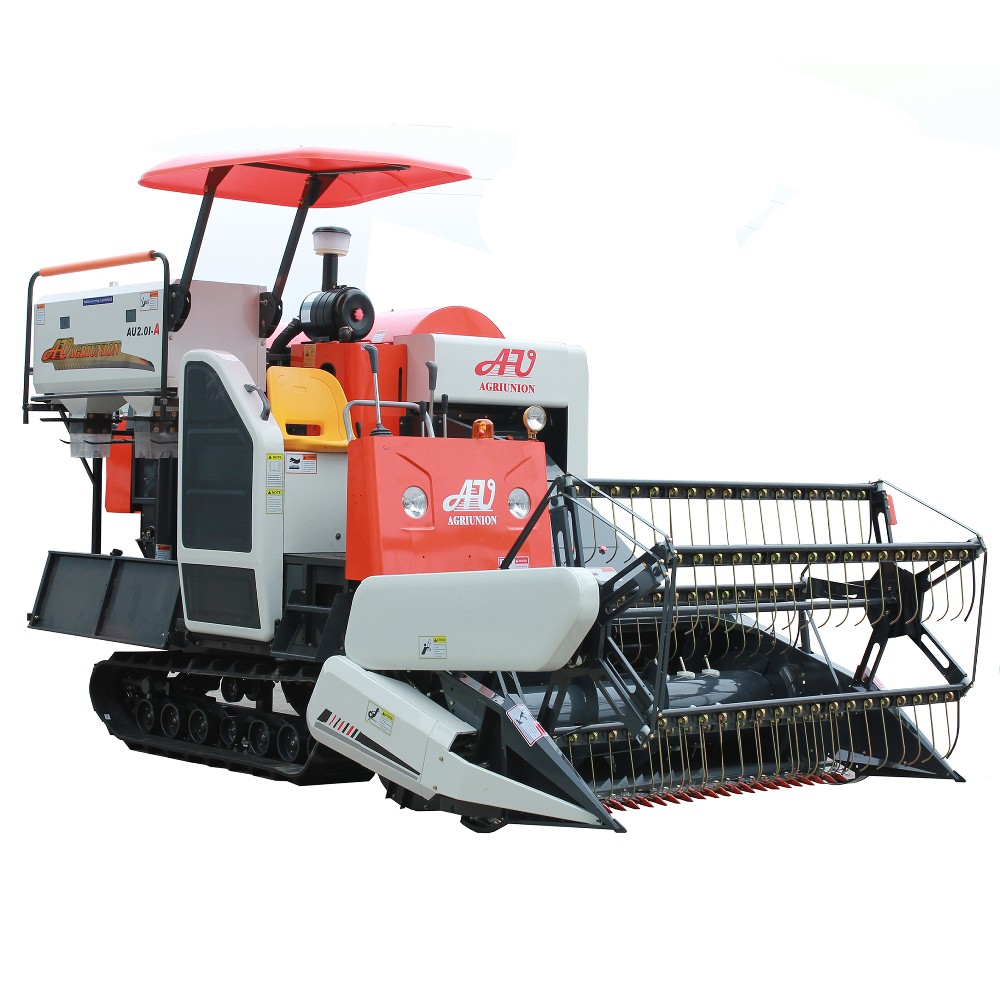 new small mini rice wheat combine harvester AU2.0I-A