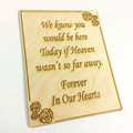 wood wedding decor in memory sign wedding sign wood card wedding invitation card