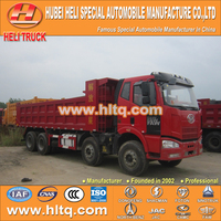FAW brand J6 cab 8X4 10m3 350hp tipper truck good quality and low price for sale In China.