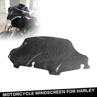 "Motorcycle Wind Screen Glide FLHT FLHTC FLHX 9 1/2"" Wave WindScreen Smoke Dark Fit TO Harley"