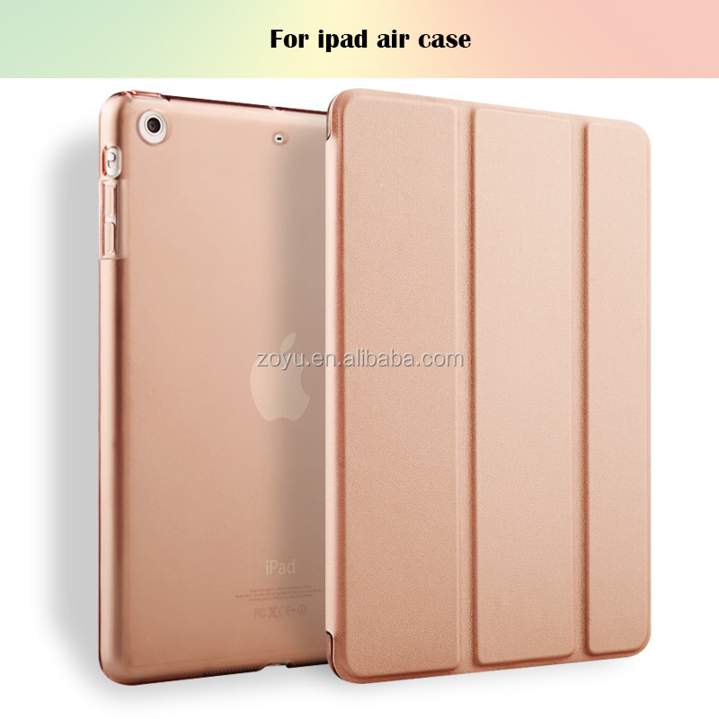 The newest fashionable pu leather stand case for ipad air 1