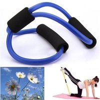 Resistance Training Bands Tube Workout Exercise tube for Yoga 8 Type Fashion Body Building Fitness Equipment Tool