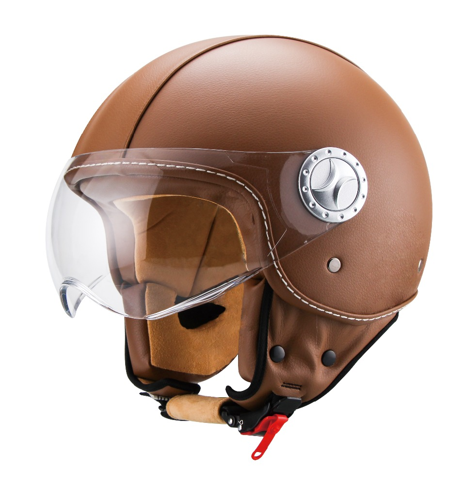 half face helmet & jet helmet with ECE22.05 standard with leather