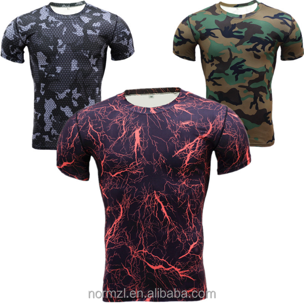 New 2017 Men Base T Shirt Tights Quick Dry Compression Shirt Brand clothing clothing men Tops