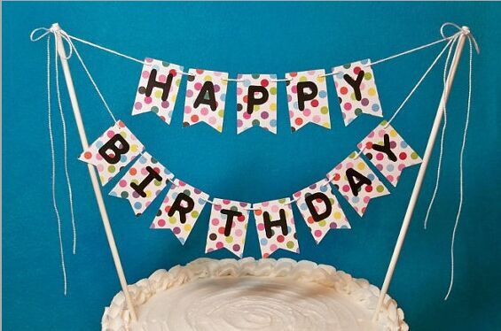 flags and banners paper bunting birthday cake flag topper happy birthday cake topper