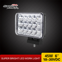 Truck Headlight 45w Work Lamp ATV UTV SUV led motorcycle headlight high lumen driving light